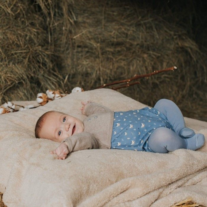 Brown & Blue Baby Shortie