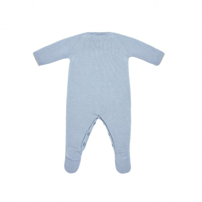 Blue Baby Knitted Babygrow