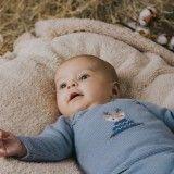 Babygrow Paz Algodão Azul