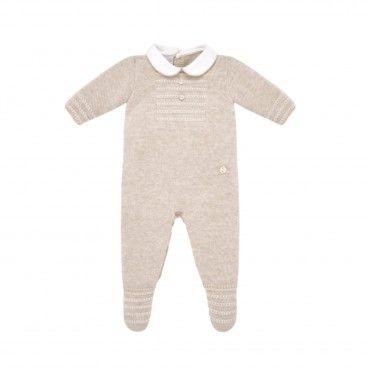 Babygrow Tricot Menino Bege