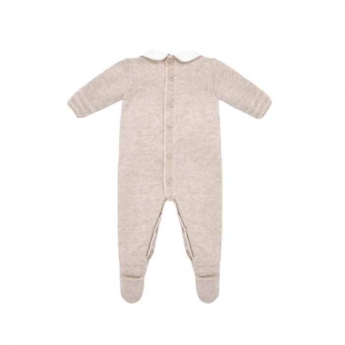 Light Brown Knitted Babygrow