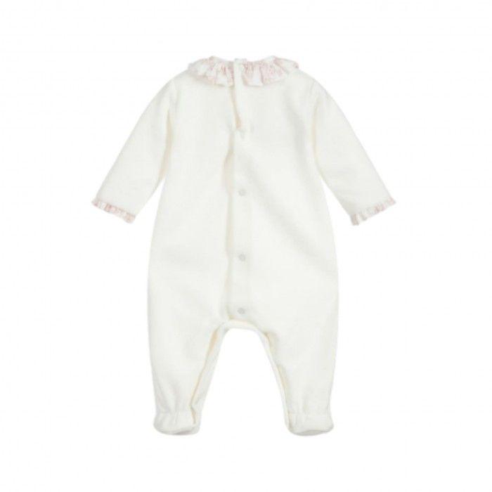 Babygrow Algodão Branco & Rosa Eco