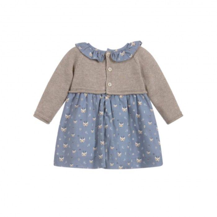 Brown & Blue Baby Dress