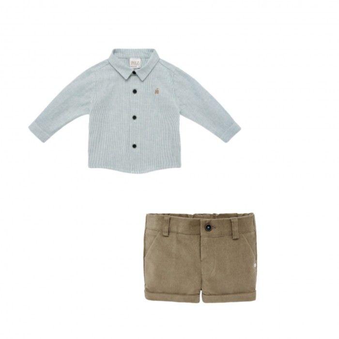 Boys Cotton Shirt & Shorts Set