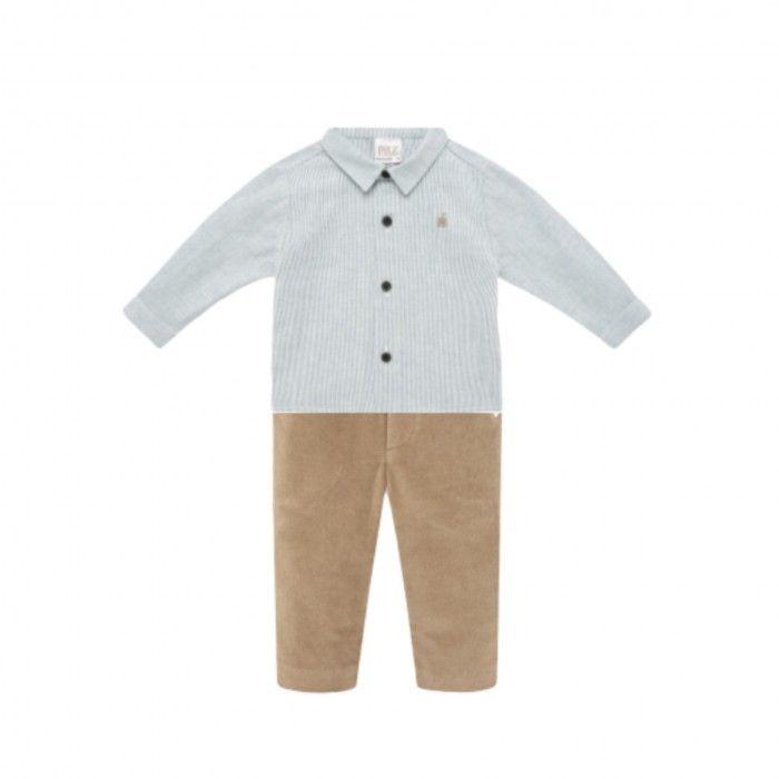 Boys Cotton Shirt & Trousers Set