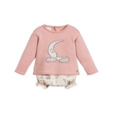 Knit Pullover & Cotton Shorts Set