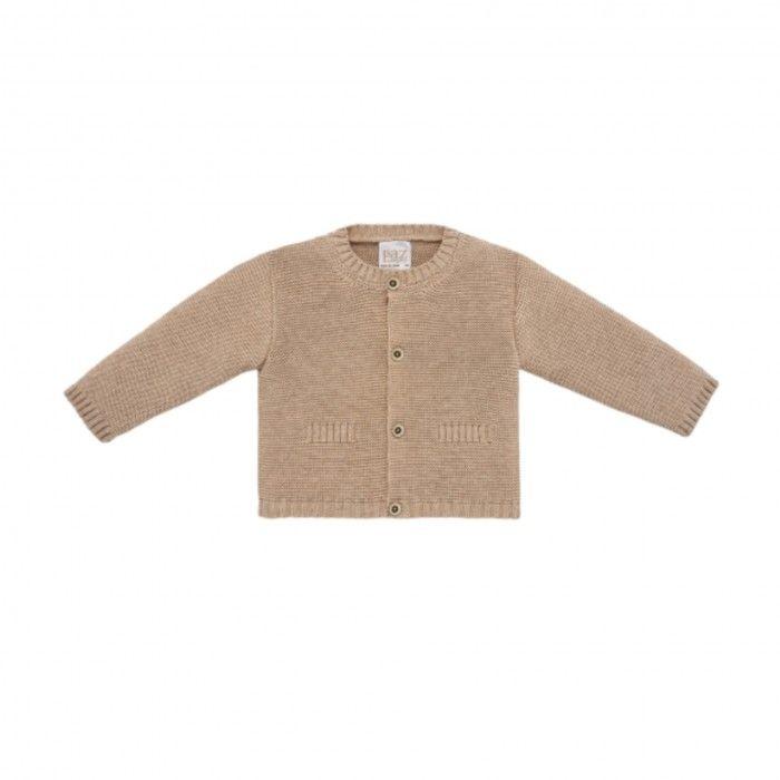 Boys Beige Knitted Cardigan