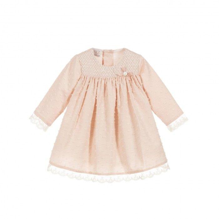 Baby Girls Pink Cotton Dress