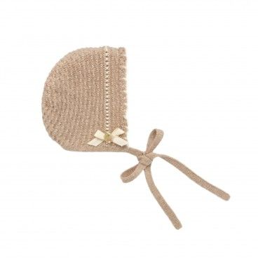 Knitted Cotton Baby Bonnet