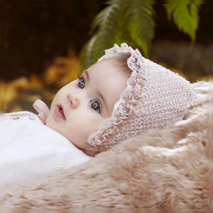 Aurora Pink Pleated Bonnet