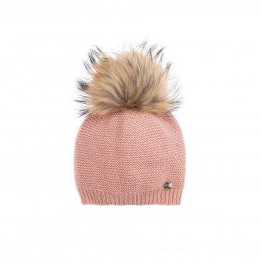 Pink Paz Pom-Pom Hat