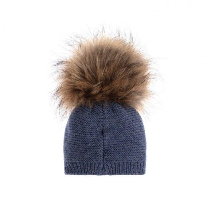 Blue Paz Pom-Pom Hat