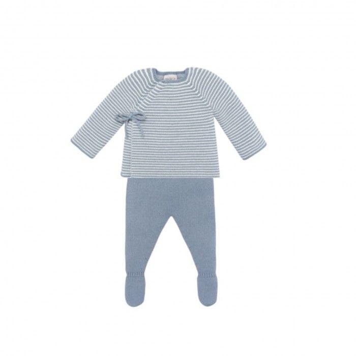 Conjunto Azul  Bebé Sweat & Leggings