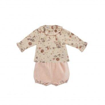 Luna Baby Girls 2 Piece Shorts Set