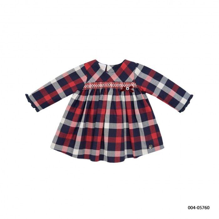 Girls Tartan Smocked Dress