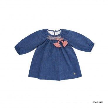 Vestido Azul Menina Ganga