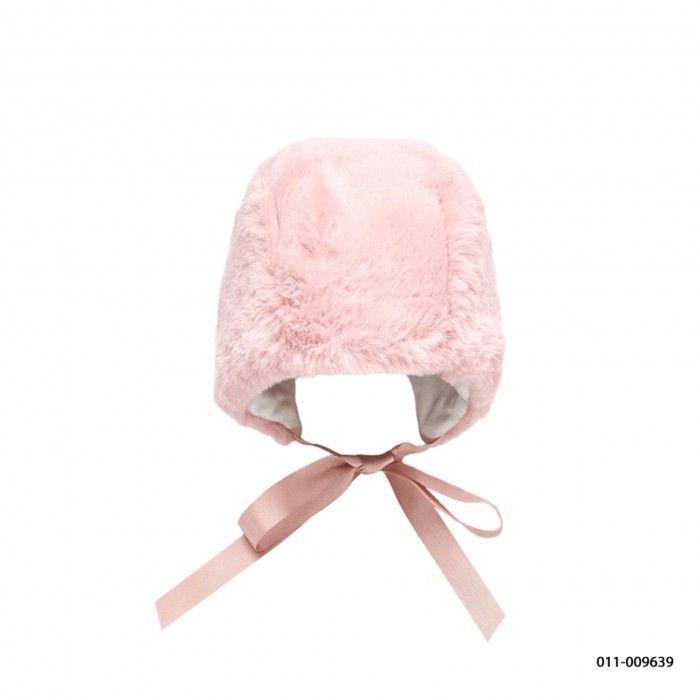 Pink Baby Fur Bonnet