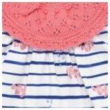 Conjunto Menina Coral & Azul