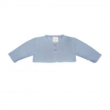 Baby Girls Blue Knitted Cardigan
