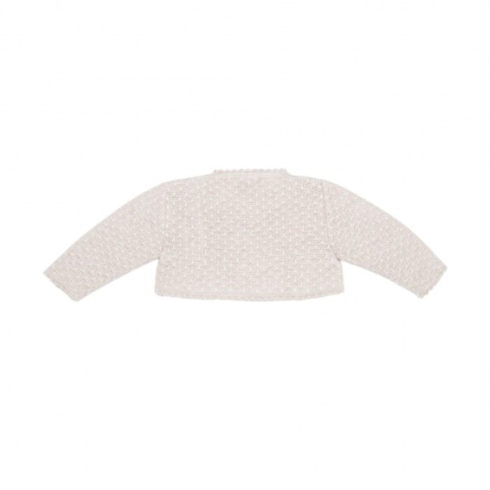 Baby Girls Beige Knitted Cardigan