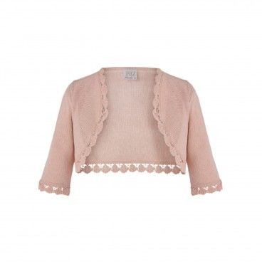 Girls Pink Knitted Cardigan