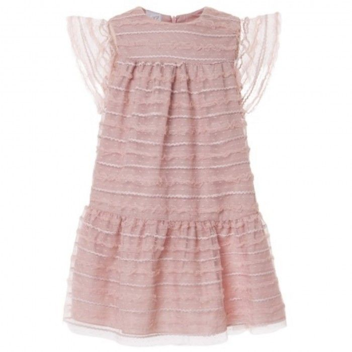 Girls Pink Tulle Ceremony Dress