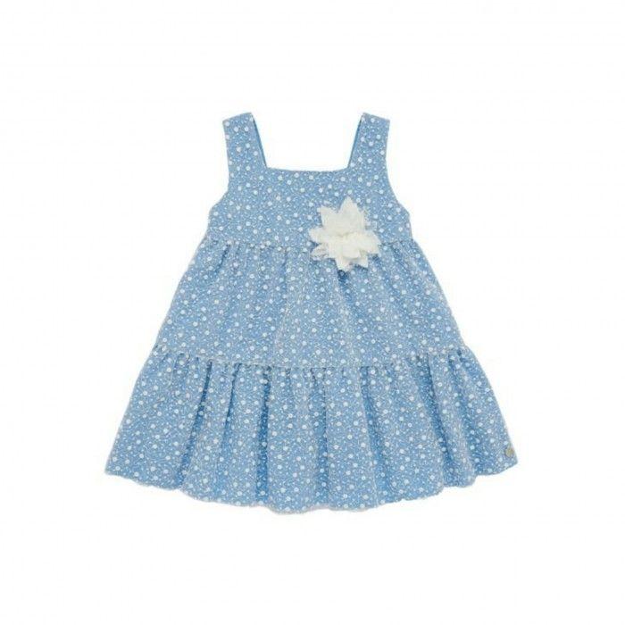 Paz Blue Dot Dress
