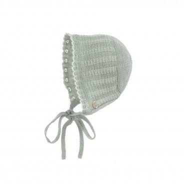 Mint Green Baby Knitted Bonnet