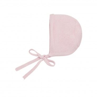 Pink Baby Knitted Bonnet