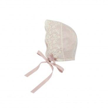 Baby Girls Dusky Pink Bonnet