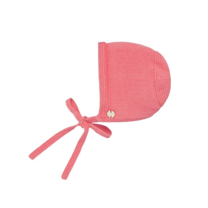 Coral Baby Knitted Bonnet