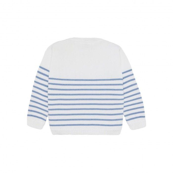Sweatshirt Menino Branca & Azul