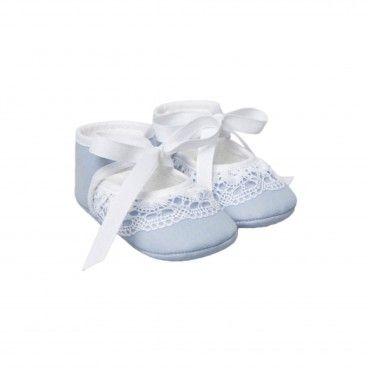 Sapato Bordado Azul Paz