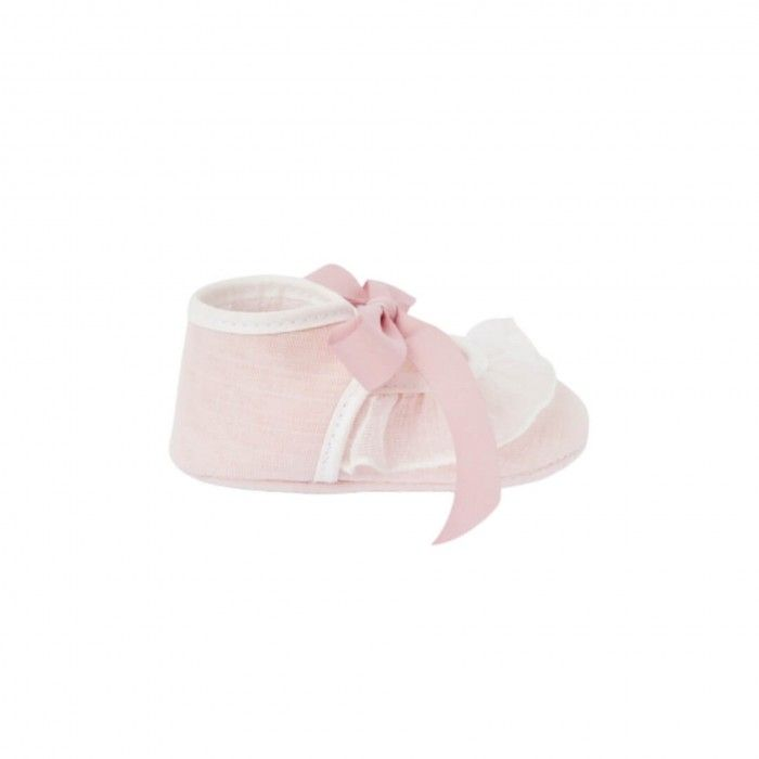Sapato Bordado Rosa Paz
