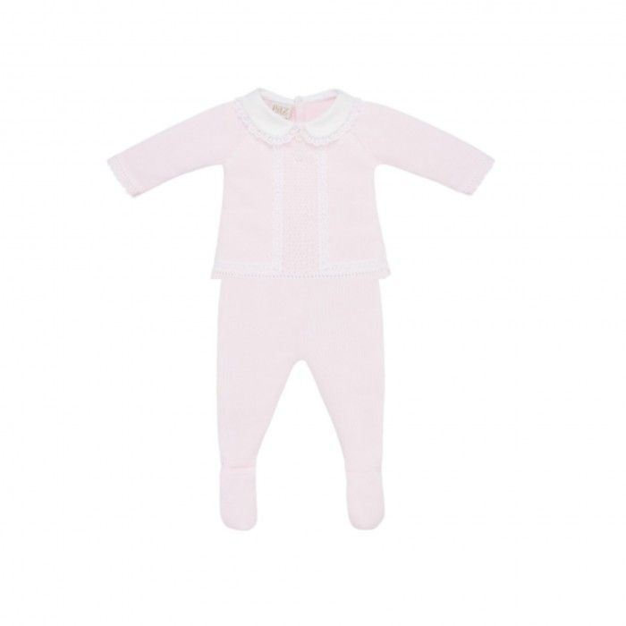 Pink & White 2 Piece Baby Trousers Set