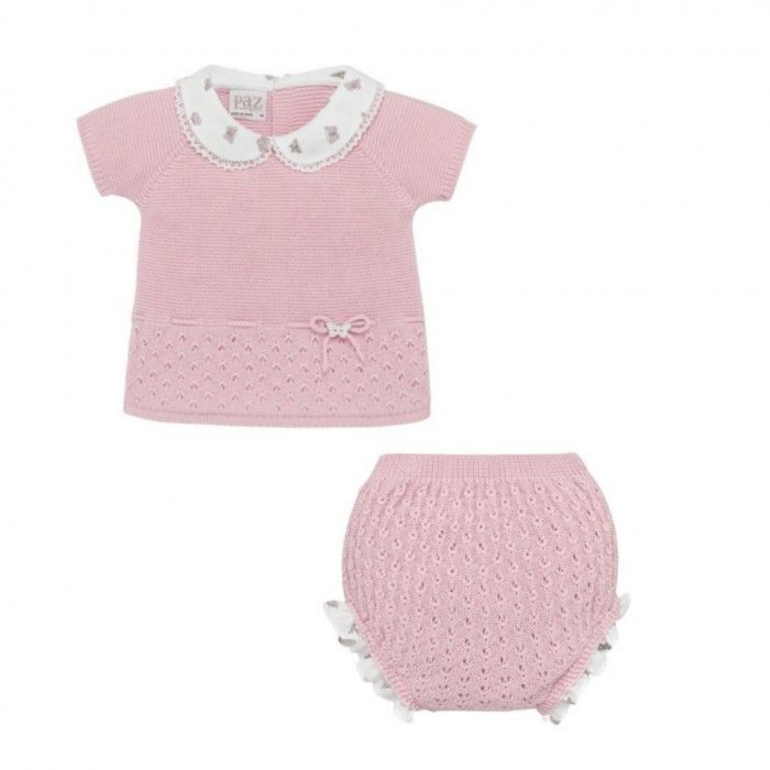 Baby Girls Pink Knitted 2 Piece Set