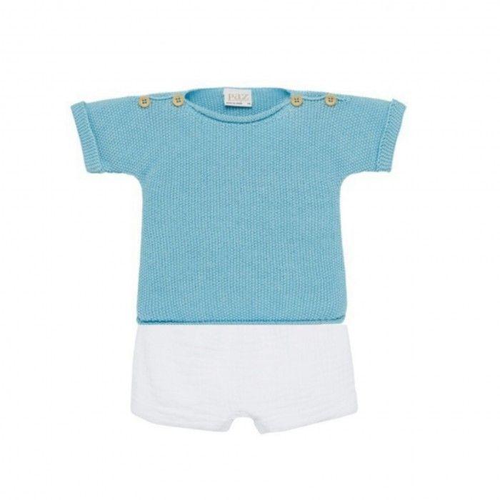 Blue Baby Set Shorts Set