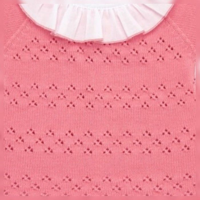 Coral Knitted 2 Piece Babygrow