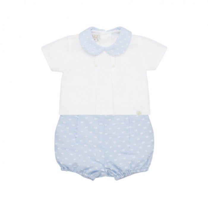 Blue Baby Boys Shorts Set