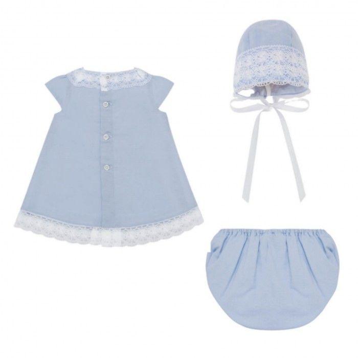 Conjunto Menina Azul 3 Peças