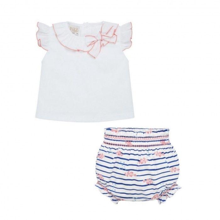 Baby Girls Cotton Shorts Set