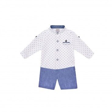 Boys Blue & White Set
