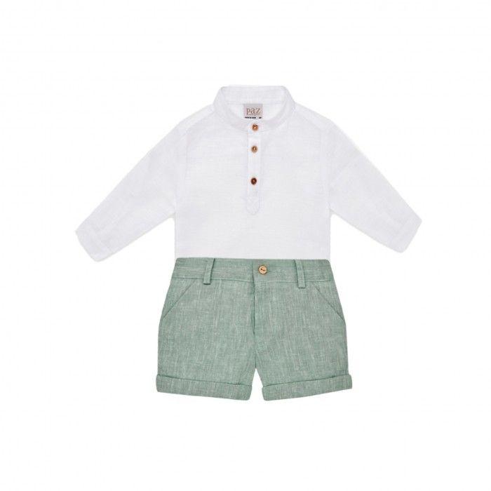 Conjunto Camisa & Calção Linho Verde