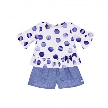 Girls Blue & White Set