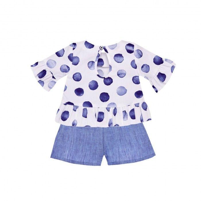 Girls Blue & White Set