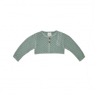 Girls Mint Green Knitted Cardigan