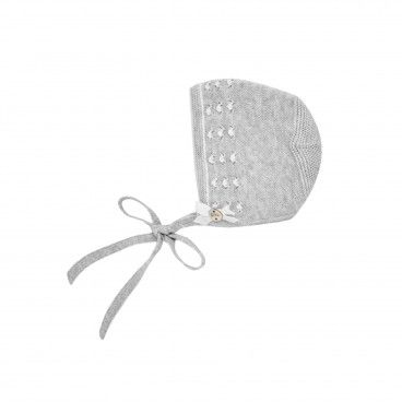Grey Knit Bonnet
