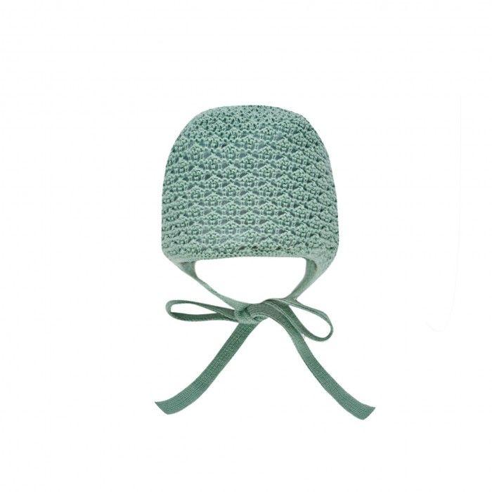 Mint Green Knitted Bonnet
