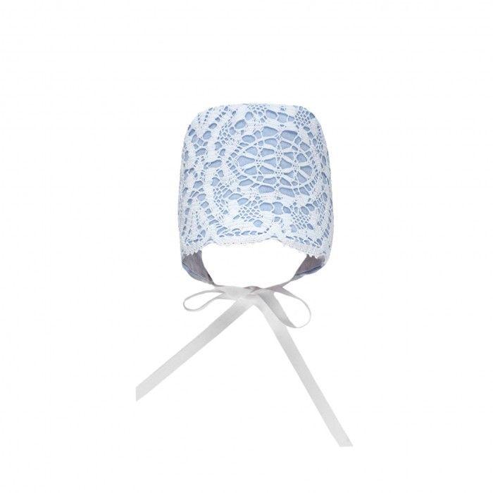 Chalk Blue Lace Bonnet