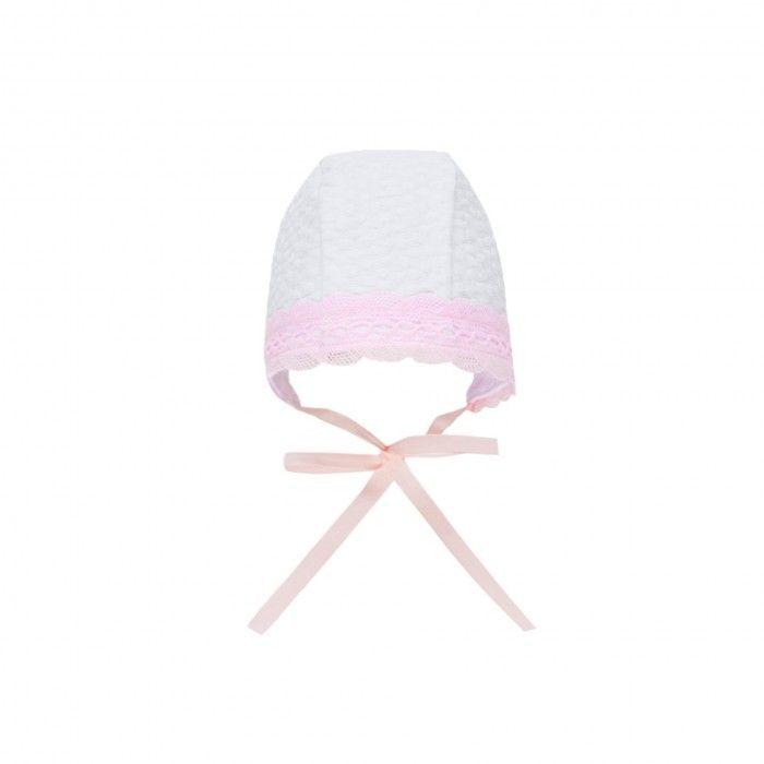 White & Pink Bonnet